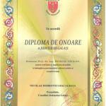 Diploma Consiliului Judetului Galati