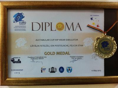 Medalie aur Euroinvent 2013